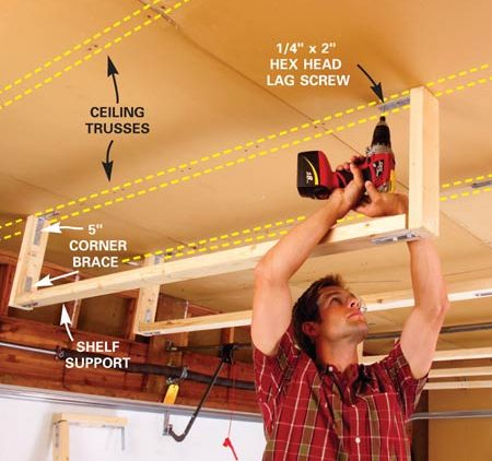 build 3 identical shelf supports storage installation