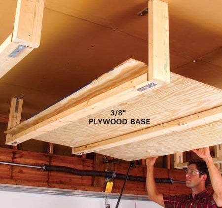 plywood for the shelf base storage installation