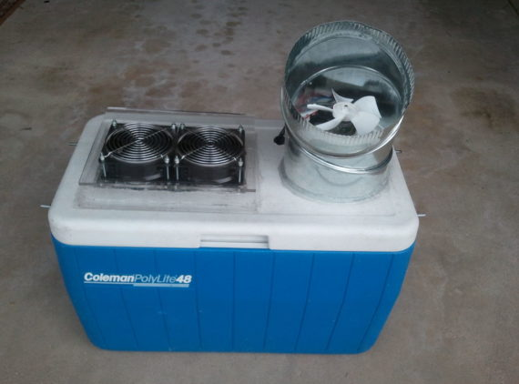 diy portable air conditioner with esky box