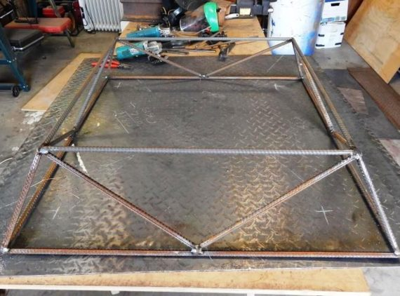 weld together with offcuts