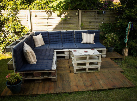 you can decorate with different pillows and cushions pallet outdoor lounge