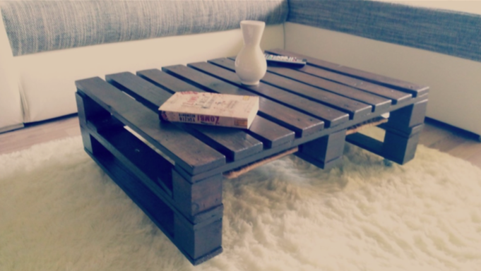How to make your own diy pallet coffee table version ii for Make your own end table