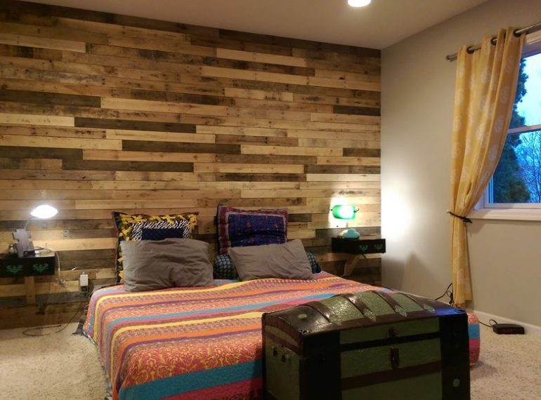 how to create a real pallet feature wall toolmates hire. Black Bedroom Furniture Sets. Home Design Ideas