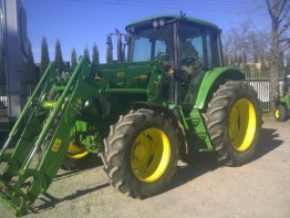 JOHN DEERE 6420 PREMIUM TRACTOR AND SELF LEVEL LOADER