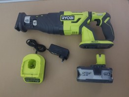 Ryobi Reciprocating Saw (Brushless) plus 5.0Ah Battery & fast charger