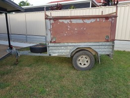 Enclosed 7x4 Box Trailer