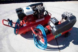 Air compressor- petrol and electric for hire in Valley Heights