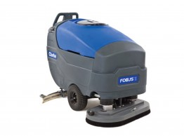 Large walk behind scrubber dryer - Focus II heavy duty battery powered walk behind scrubber dryer