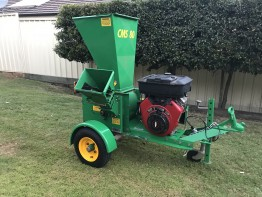 Red Roo Chipper Mulcher Shredder 80mm Trailer