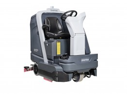 Medium ride-on scrubber dryer - Nilfisk SC6000 battery powered ride-on scrubber dryer