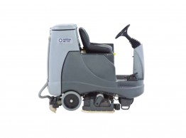 Compact ride on scrubber dryer - Nilfisk BR855 battery powered ride-on scrubber dryer