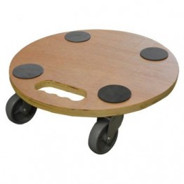 TIMBER DOLLY 50CM X 35CM OR 40CM ROUND