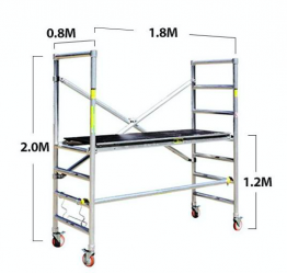 Scaffold - 1.8 x 0.75m Mini Aluminium Scaffold