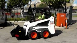 """Skid Steer Huski SDK4 with Trailer for Hire in  Melbourne Hire Melbourne"