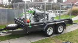 10ft X 6ft Caged Trailer Hire in Adelaide