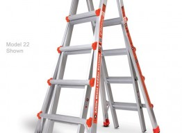 ARTICULATING LADDER, A FAME AND EXT.