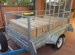 8 X 5 FT BOX TRAILER WITH CAGED SIDES AN