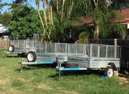 8x5ft Caged Trailer