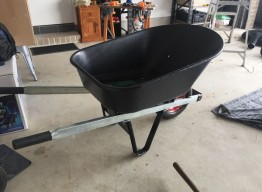 100L Poly Tray Wheelbarrow