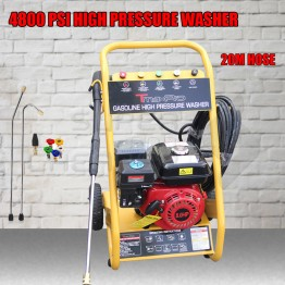 4800 PSI High Pressure Water Cleaner Washer Gerni 8 HP Petrol 20m Hose