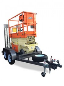 19ft Scissor Lift on Trailer