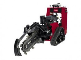Trencher with Backfill Blade