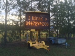Variable Message Sign with Trailer