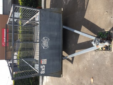 8 x 5 Cage Trailer 1-Axle Ramp