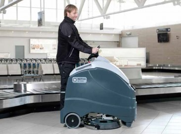 Stand on scrubber dryer - Nilfisk SC1500 battery powered stand on scrubber dryer