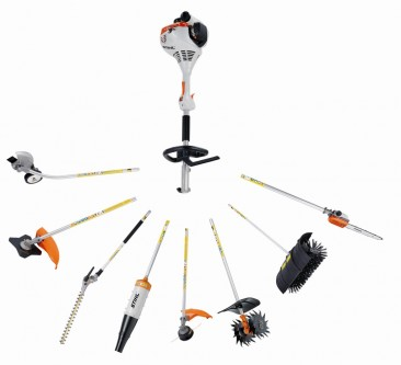 STIHL KM130R KOMBI POWERHEAD COMMERCIAL POLESAW, HEDGE TRIMMER, LAWN EDGER & BRUSHCUTTER/TRIMMER