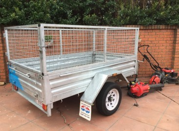 7x4ft caged trailer